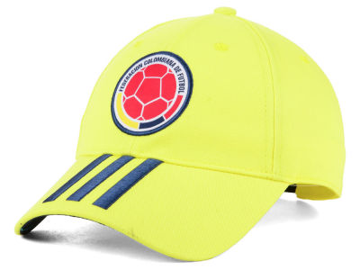 Colombia adidas National Team 3 Stripe Adjustable Cap