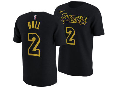 Los Angeles Lakers Lonzo Ball Nike NBA Men's City Player T-Shirt