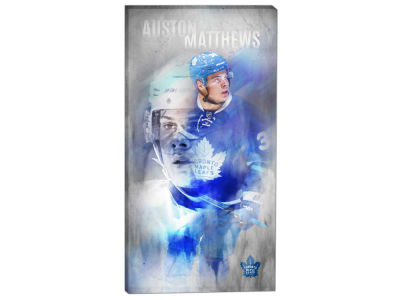 Toronto Maple Leafs Auston Matthews Frameworth 14x28 Canvas Double-Exposure Photograph