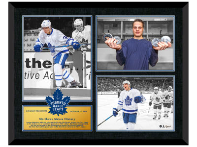 Toronto Maple Leafs Auston Matthews Frameworth Triple Photo Framed Collage