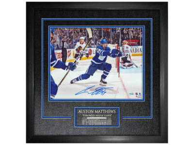 "Toronto Maple Leafs Auston Matthews Frameworth Signed 11"" x 14"" Etched Mat"