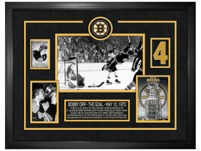 Boston Bruins Bobby Orr Frameworth Framed Scoresheet Collage