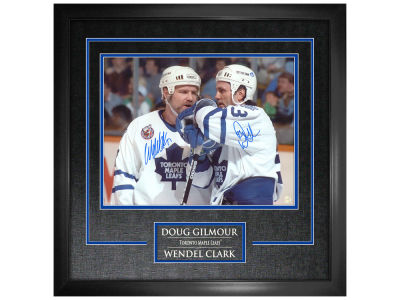 "Toronto Maple Leafs Wendel Clark Frameworth Signed 11"" x 14"" Etched Mat"