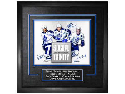 Toronto Maple Leafs Rick Vaive Frameworth Multi-Signed 16x20 Framed Photograph