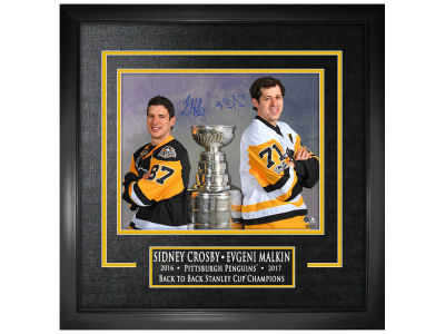 Pittsburgh Penguins Sidney Crosby Frameworth Signed 16x20 Etched Mat