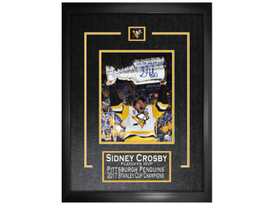 Pittsburgh Penguins Sidney Crosby Frameworth Signed 8x10 Etched Mat