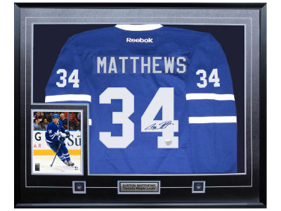 Toronto Maple Leafs Auston Matthews Frameworth Autographed Jersey Framed