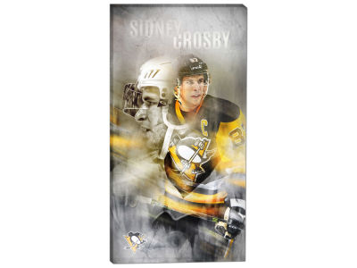Pittsburgh Penguins Sidney Crosby Frameworth 14x28 Canvas Double-Exposure Photograph