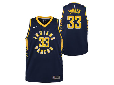 Indiana Pacers Myles Turner Nike NBA Youth Icon Swingman Jersey