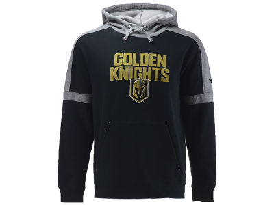 Vegas Golden Knights NHL Branded NHL Men's Iconic Color Blocked Pullover Hoodie