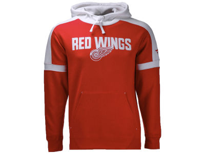 Detroit Red Wings NHL Branded NHL Men's Iconic Color Blocked Pullover Hoodie