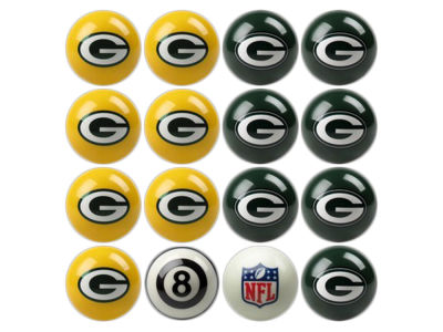 Green Bay Packers Imperial Home vs Away Billiard Ball Set