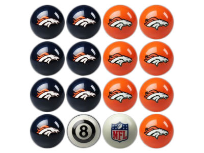 Denver Broncos Imperial Home vs Away Billiard Ball Set