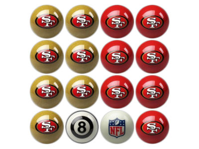 San Francisco 49ers Imperial Home vs Away Billiard Ball Set