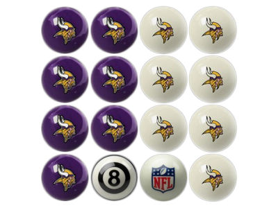 Minnesota Vikings Imperial Home vs Away Billiard Ball Set