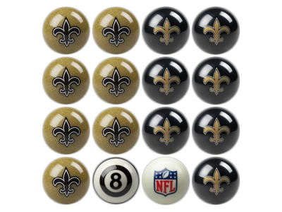 New Orleans Saints Imperial Home vs Away Billiard Ball Set
