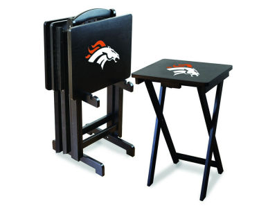Denver Broncos Imperial TV Trays with Stand