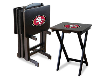 San Francisco 49ers Imperial TV Trays with Stand