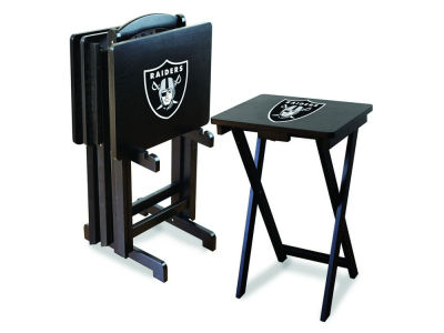 Oakland Raiders Imperial TV Trays with Stand