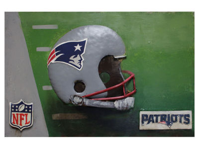 New England Patriots Imperial Vintage Hand Crafted Metal Wall Art