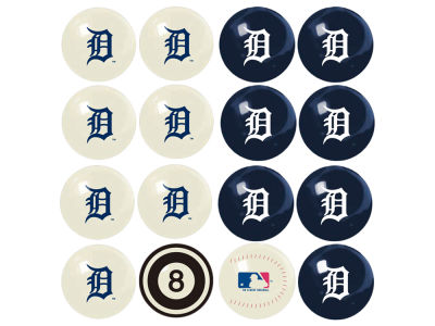 Detroit Tigers Imperial Home vs Away Billiard Ball Set