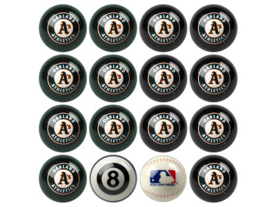 Oakland Athletics Imperial Home vs Away Billiard Ball Set