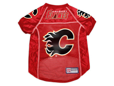 Calgary Flames Sports Vault Pet Jersey-Medium