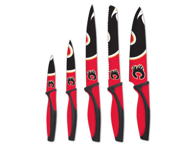 Calgary Flames Sports Vault 5-Piece Kitchen Knife Set