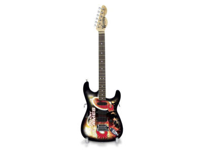 Calgary Flames Sports Vault Mini Collector Guitar