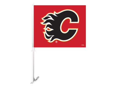 Calgary Flames Sports Vault Premium Double-Sided Car Flag