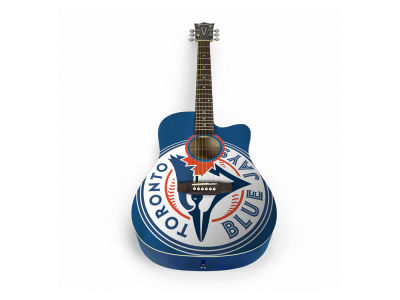 Toronto Blue Jays Sports Vault Acoustic Guitar