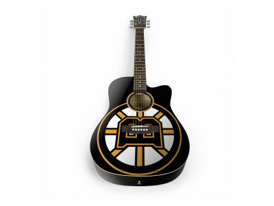 Boston Bruins Sports Vault Acoustic Guitar