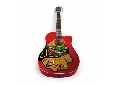 Chicago Blackhawks Sports Vault Acoustic Guitar