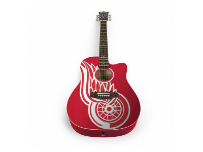 Detroit Red Wings Sports Vault Acoustic Guitar