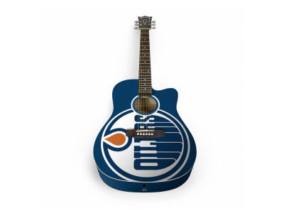 Edmonton Oilers Sports Vault Acoustic Guitar