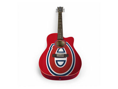 Montreal Canadiens Sports Vault Acoustic Guitar