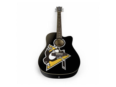 Pittsburgh Penguins Sports Vault Acoustic Guitar