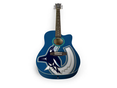 Vancouver Canucks Sports Vault Acoustic Guitar