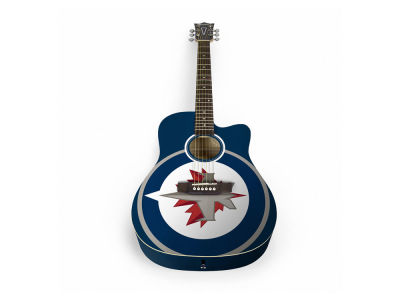 Winnipeg Jets Sports Vault Acoustic Guitar