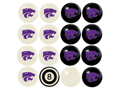 Kansas State Wildcats Imperial Home vs Away Billiard Ball Set