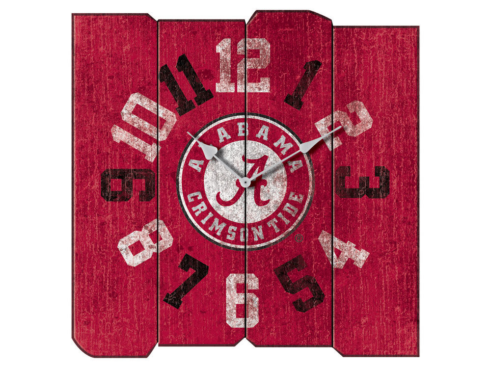 Alabama Crimson Tide Imperial Vintage Square Clock | lids.com