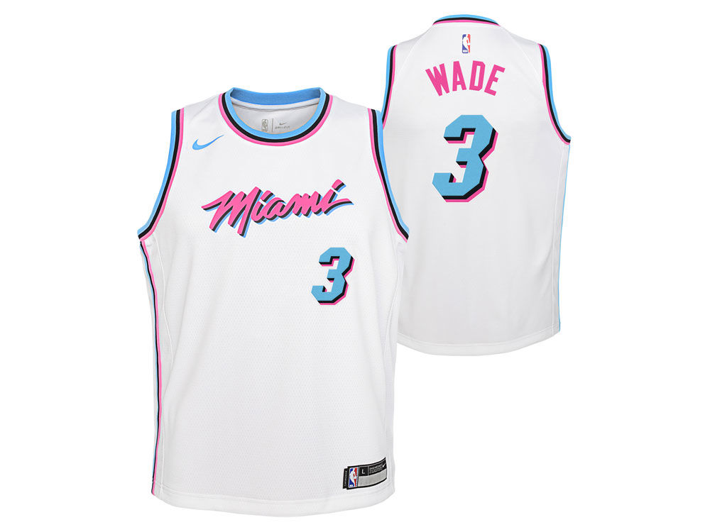 sports shoes b336b d91a3 dwyane wade nike miami heat vice uniform city edition swingman jersey