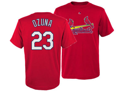 St. Louis Cardinals Marcell Ozuna Outerstuff MLB Youth Official Player T-Shirt