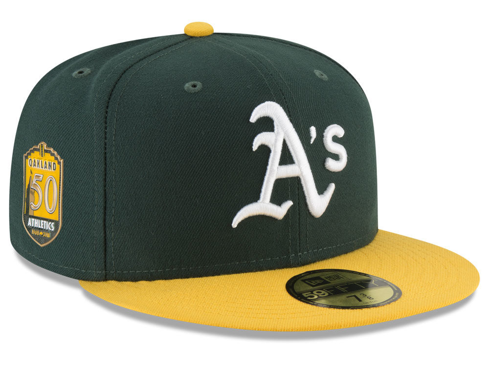 Oakland Athletics New Era MLB Authentic Collection 50th Anniversary 59FIFTY  Cap  2d5664c1c11