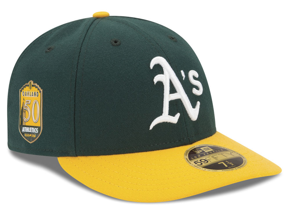 Oakland Athletics New Era MLB Low Profile AC 50th Anniversary 59FIFTY Cap  a8c0ed767db6