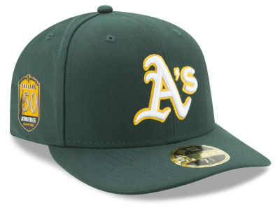 Oakland Athletics New Era MLB Low Profile AC 50th Anniversary 59FIFTY Cap