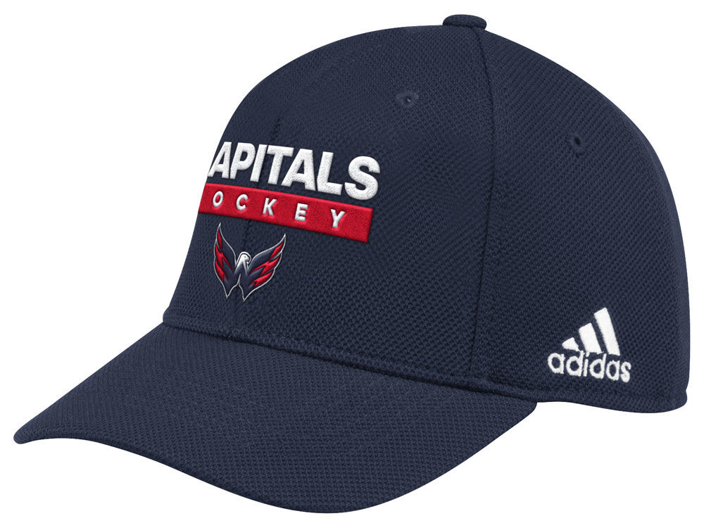 Washington Capitals adidas 2018 NHL Stanley Cup Playoff Patch Cap ... d1753e77d99