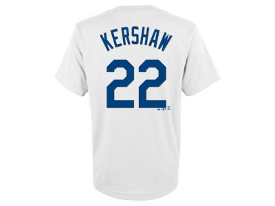 Los Angeles Dodgers Clayton Kershaw Outerstuff MLB Youth Official Player T-Shirt