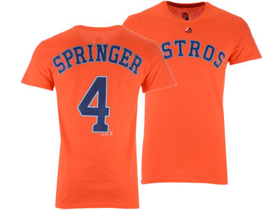 Houston Astros George Springer Majestic MLB Men's Official Player T-Shirt