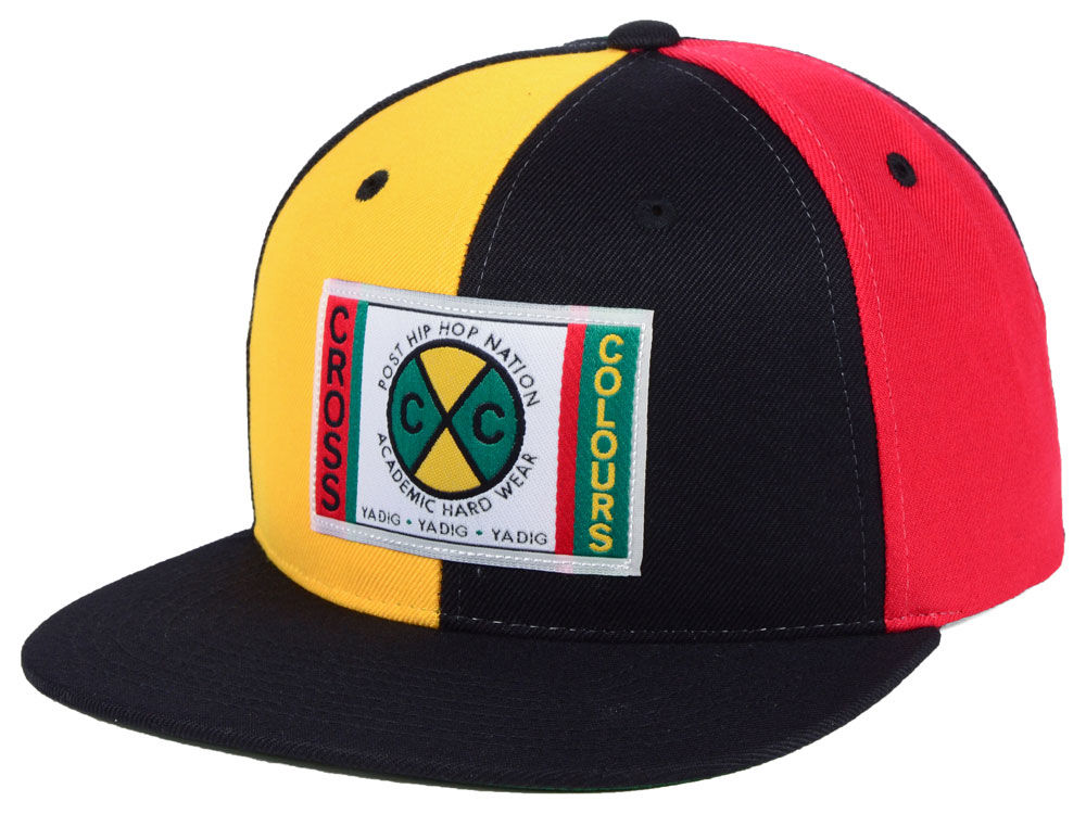 Cross Colours Colorblock Denim Snapback Cap  16cb5ba81f6